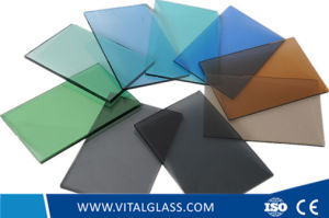 Lake Blue Glass/Light Grey Glass/Bronze Tinted Float Glass/Pink/Euro Grey Glass/Reflective Glass/Window Glass/Dark Green Glass/ F Green Glass pictures & photos