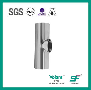 Stainless Steel Sanitary Equal Welded Tee (SF1000030) pictures & photos
