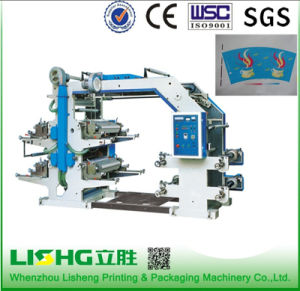 4 Color Packaging Plastic Bag Stack Type Flexo Printing Machine pictures & photos