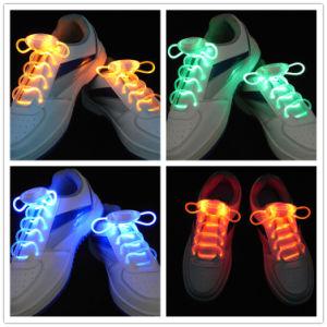 Light up LED Shoelaces Flash Party Disco Shoe Strings pictures & photos