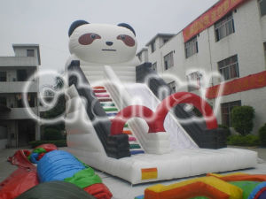 Giant White Panda Inflatable Slide for Children Chsl121 pictures & photos