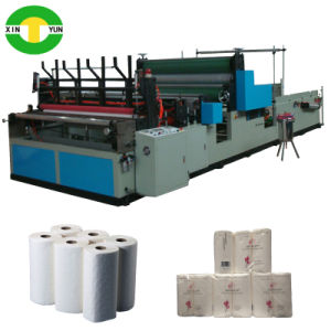 Automatic High Speed Rewinding Kitchen Towel Tissue Roll Machine pictures & photos