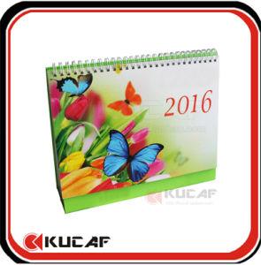 Desk Calendar Spiral Table Calendar for 2017 pictures & photos