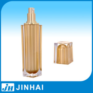 (T) 80ml Golden Acrylic Bottle Cream Lotion Bottle pictures & photos