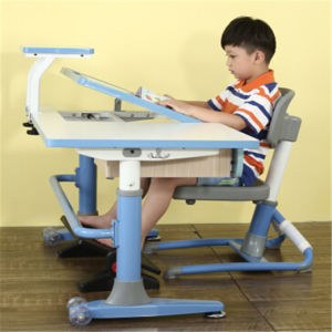 Height Adjustable Promotional Plastic Table Wooden Children Furniture pictures & photos