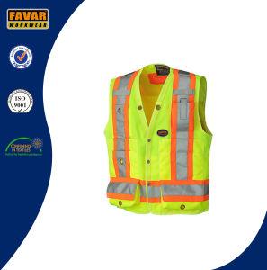 Hi Viz 150d Polyester Surveyor′s Safety Vest pictures & photos