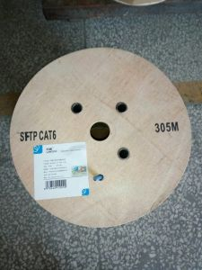 CAT6 SFTP Cable 0.58mm Bc Pass Fluke PVC 305m pictures & photos