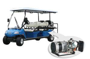 Hybrid Generator Electric Utility Golf Cart 4+2seat Blue (Del2042D2z-H) pictures & photos