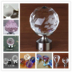 Hot Sale Home Decor Crystal Glass Cabinet Knobs and Handles pictures & photos
