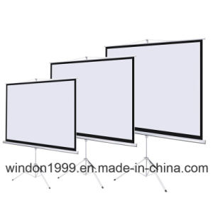 Tripod Floor Stand Projection Screen China Manufacturer pictures & photos