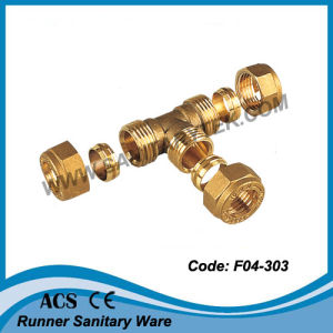 Brass Tee Compression for Copper Pipe (F04-303) pictures & photos