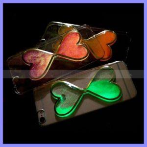 Sand Glass Clock Quicksand Hard Phone Hourglass Case Fluorescent Noctilucent Liquid Heart Case Cover Luminous Case for iPhone 6 6s Plus pictures & photos
