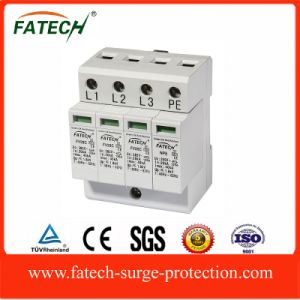 china spd manufacturers 3P+N 320V lightning surge protective device 40KA pictures & photos