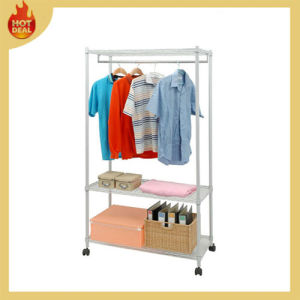 High Quality Steel Adjustable Clothes Rack Warehouse pictures & photos