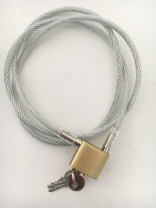 Lock-Free Beam Copper Coated Wire Rope Lock pictures & photos