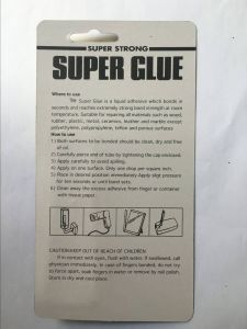 Super Glue Single Piece in Blister Card pictures & photos