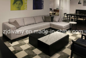 Italian Modern Sofa Furniture Home Wooden Fabric Sofa (D-68) pictures & photos