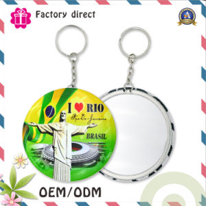 Metal Key Ring with Round Mirror Keychain pictures & photos