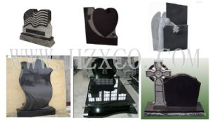 Black Granite Denkmal Granite Monumento Headstone pictures & photos