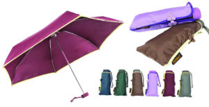 Edged Solid 3 Section Auto Open Umbrellas (YS-3FA22083520R) pictures & photos