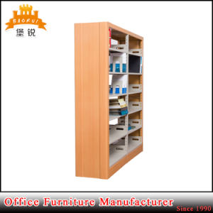Steel Furniture Double Side Metal School Library Rack Bookshelf Bookcase pictures & photos