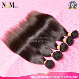 Can Dye Any Color 100% 6A Unprocessed Virgin Brazilian Hair Weft pictures & photos