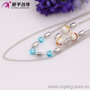 Xuping Fashion Rhodium Color with Stones and Beads Necklace (42529) pictures & photos