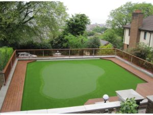 16mm Pile Height 2 Color Natural Green Golf Putting Green Lawn