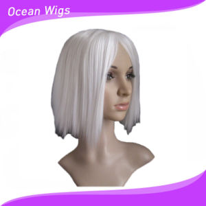 White Color Short Synthetic Wig pictures & photos