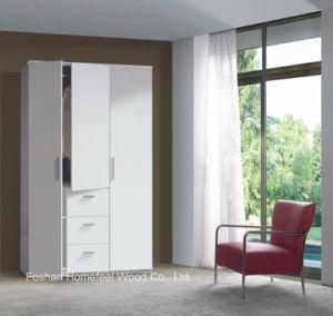 Modern 3 Door 3 Drawer Combi Triple Wooden Wardrobe (HF-EY08011) pictures & photos