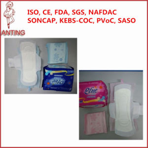 Wholesale Female Sanitary Pads Blue Sanitry Napkin pictures & photos