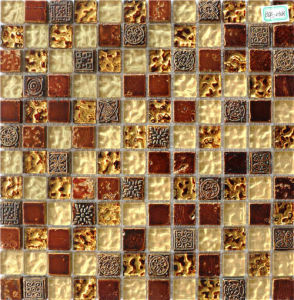 8mm Brown Crystal Mosaic for Deco Indoor pictures & photos