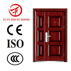 Stainless Interior Steel Security Door Double Door pictures & photos