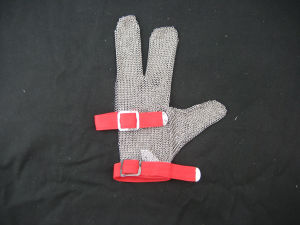 Steel Chain Mail Protective 3 Finger Work Glove pictures & photos