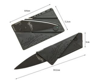 Metal Folding Knife, Creative Business Card Knife Outdoor Portable Knife
