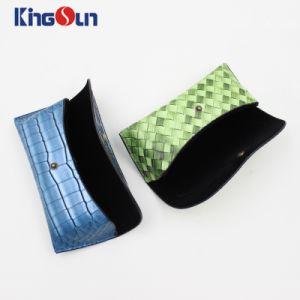 Lady′s Fashion Leather Bag Colorful Hand Made Cases Spectacle Cases pictures & photos