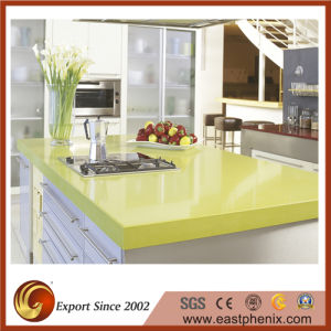 Polished Green Quartz Stone Kitchen Countertop pictures & photos