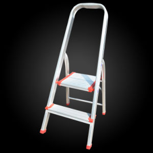 Super Light Folable Agility Household Loft Aluminum 2 Step Ladder pictures & photos