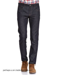 High Quality Men′s Clothes Casual Dark Blue Denim Jeans pictures & photos