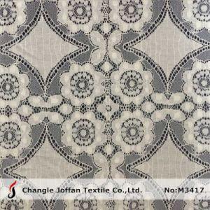 Big Pattern Nylon Cotton Lace Fabric (M3417) pictures & photos
