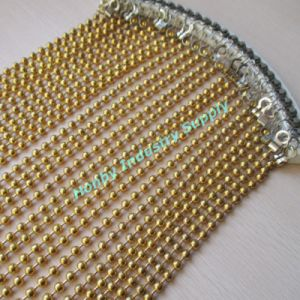 10mm Gold Plated Metal Beads String Night Club Curtain pictures & photos