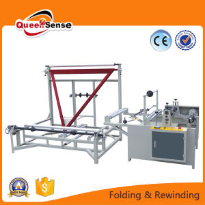 China Automatic Plastic PE Folding and Rewinding Machine pictures & photos