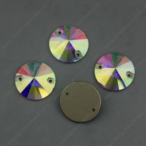 Ab Sew on Crystal Stones Round Shape (DZ-3041) pictures & photos