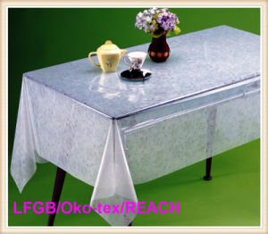 PVC Transparent and Embossed Tablecloth (TJ226) pictures & photos