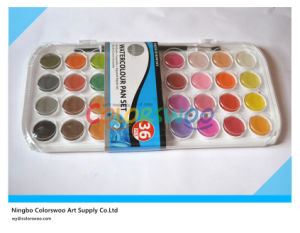 36 Color 2.8cm Water Color Cake with Brush for Painting and Drawing pictures & photos