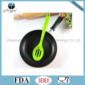 Non-Stick Silicone Cooking Utensil Set Silicone Slotted Cooking Spoon Sk16b pictures & photos