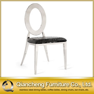 PU Material for Cushion Stainless Steel Dining Chair pictures & photos