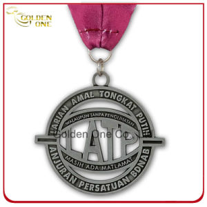 Customized 3D Gold Plated Medallion with Printed Lanyard pictures & photos