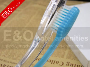 Cheap Disposable Hotel Folding Clear Toothbrush with Toothpaste pictures & photos