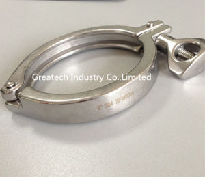 Stainless Steel Sanitary Fittings Clamp Heavy Duty Single Pin
